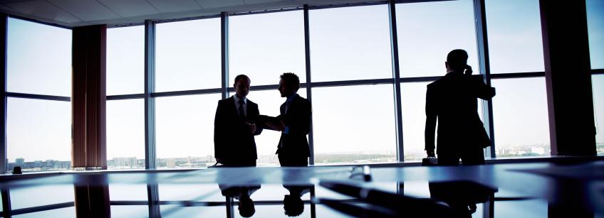 Businessmen in meeting