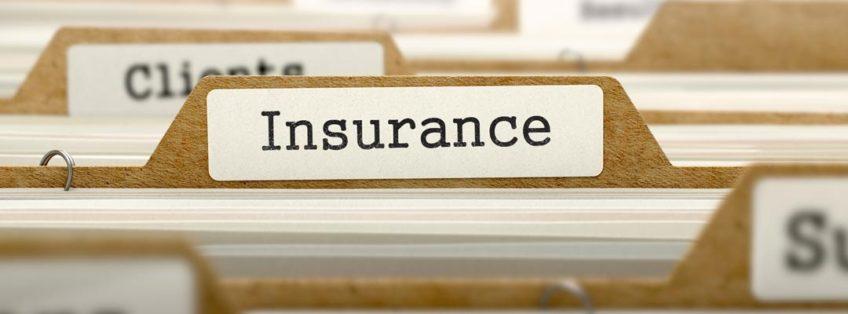 folder marked insurance