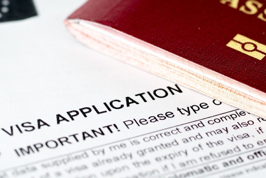 europe union visa application form with passport