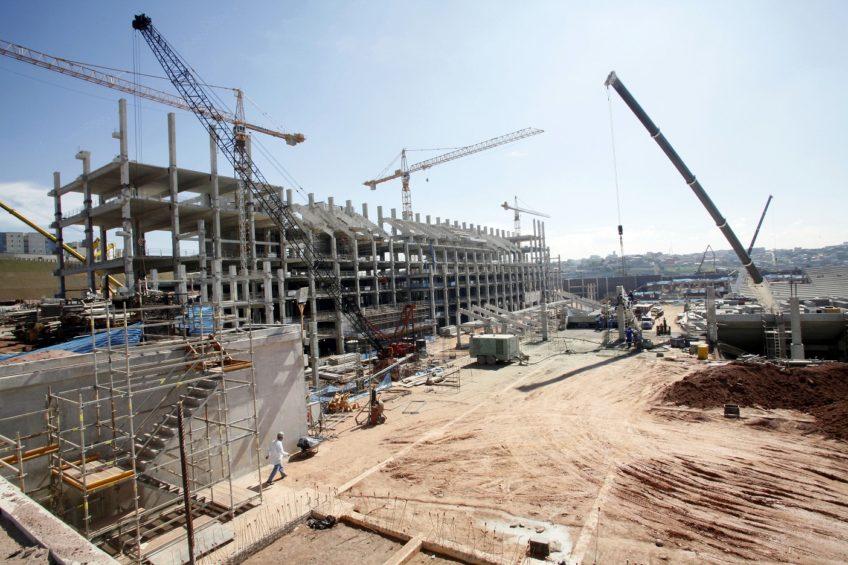 construction site in Sao Paulo, Brazil