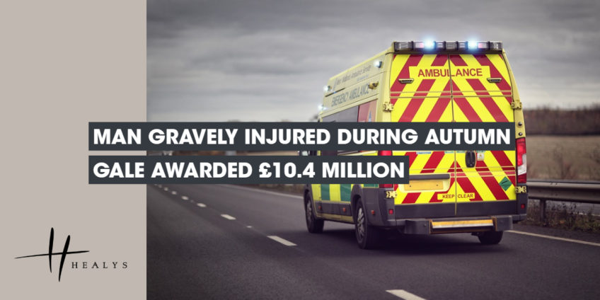 image of an ambulance driving down the road