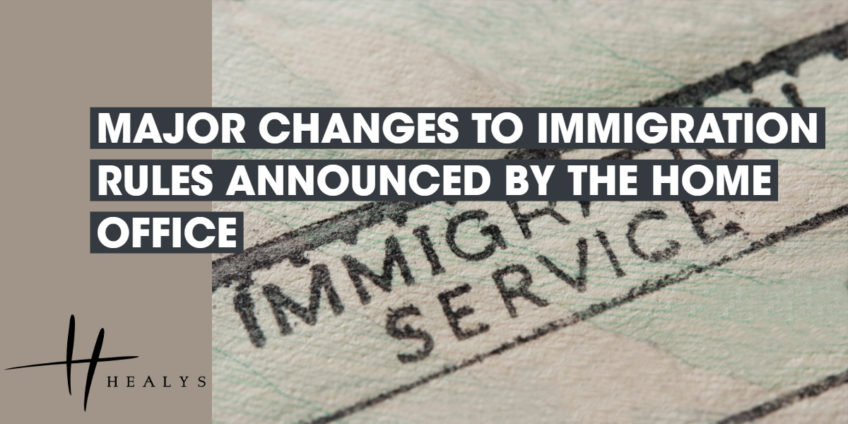 immigration service stamp on a paper