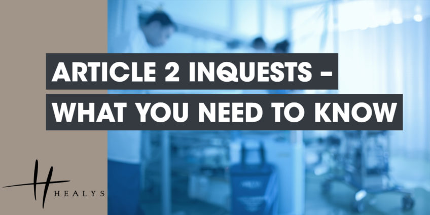 article 2 inquests - what you need to know