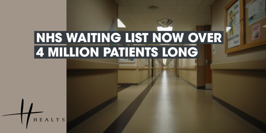 NHS Waiting List Now Over 4 Million Patients Long