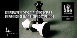 Healys Recommended as Leading Firm in Legal 500