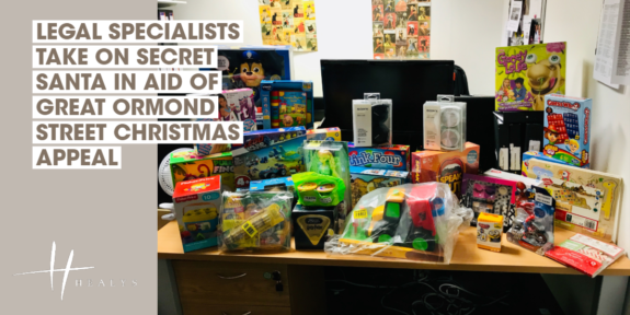 LEGAL SPECIALISTS TAKE ON SECRET SANTA IN AID OF GREAT ORMOND STREET CHRISTMAS STOCKING APPEAL