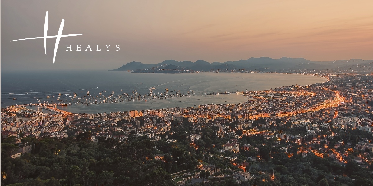 Image of Cannes at sunset