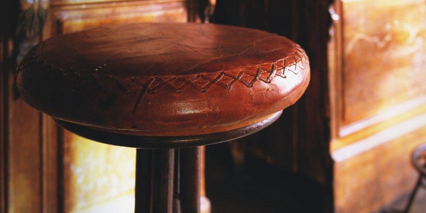 close up of a bar stool